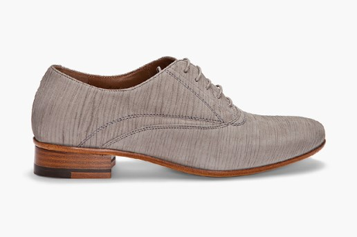 Lanvin Laser Cut Suede Oxfords