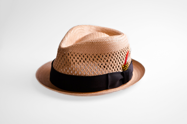 New York Hat Co. Straw Fedora Hat