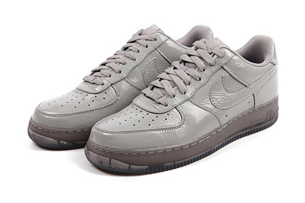 nike air force 1 low grey crinkled patent