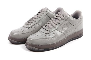 "Nike Air Force 1 Low ""Grey Crinkled Patent"""