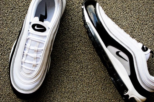 "Nike ""Air Max 97"" White/Black Patent"