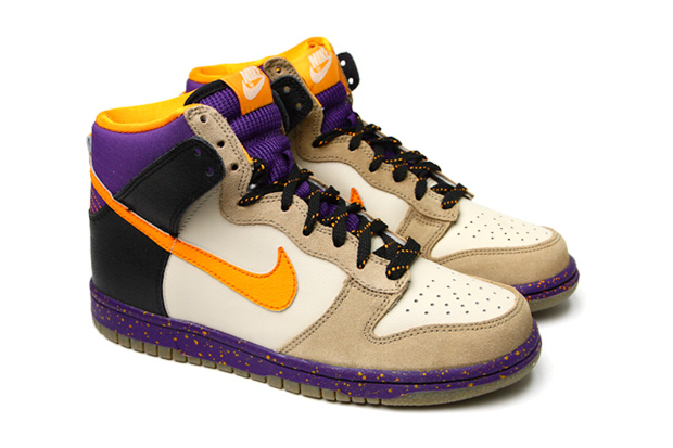 Nike Dunk High Beige/Purple/Orange