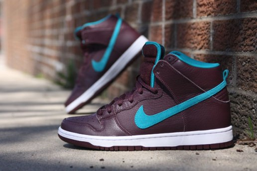 Nike SB Dunk High Premium Deep Burgundy/Aquamarine