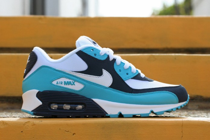 Nike Air Max 90 White/Chlorine Blue