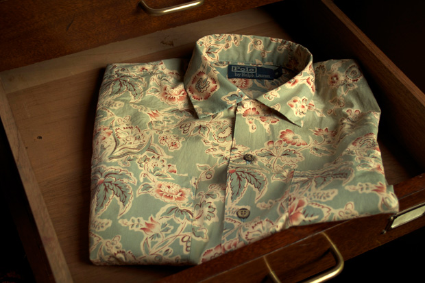 ralph lauren medley print niagara camp shirt number six exclusive