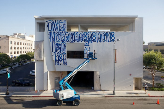 Retna Mural @ Pasadena Museum of California Art