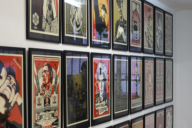 shepard fairey the print show magda danysz gallery recap