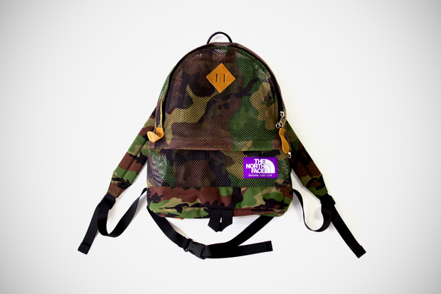 the north face purple label medium mesh day pack