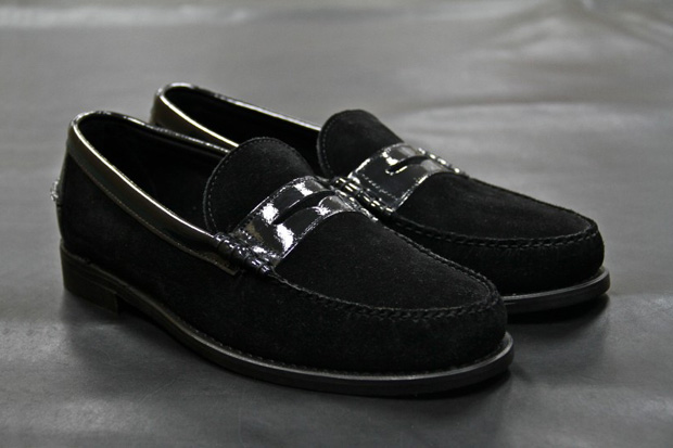 Theophilus London x Ronnie Fieg x Sebago Triple Black Penny Loafer