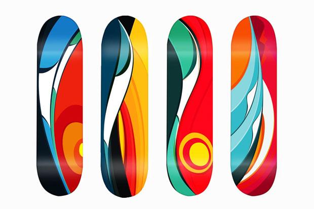 tom veiga wave series skate decks