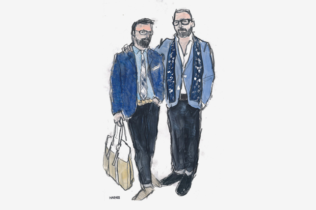 """UNIONMADE 2011 Spring/Summer """"18 Friends/18 Looks"""" Lookbook Illustrated by Richard Haines"""
