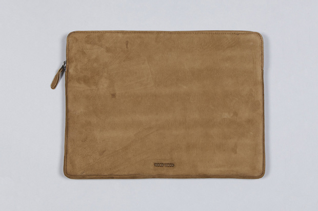 Wood Wood Leather Laptop Bag