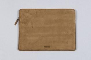 Wood Wood Leather Laptop Bag
