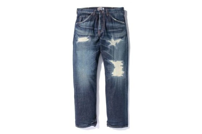 A Bathing Ape Type 1 Damage Denim Pant