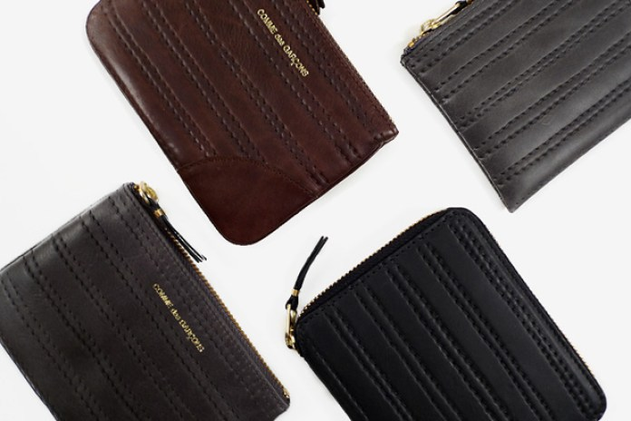 COMME des GARCONS Embossed Stitch Wallets