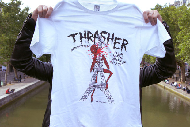cool cats x neck face x thrasher magazine t shirt