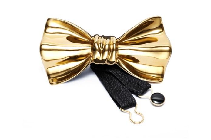 Cor Sine Labe Doli Primo Metallic Ceramic Bow Tie