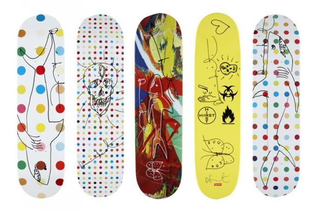 Damien Hirst x Supreme Signed Skate Decks