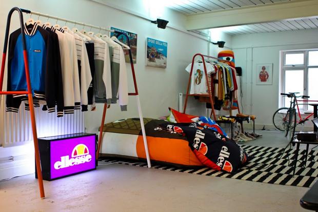 ellesse pop up shop coffee house london opening
