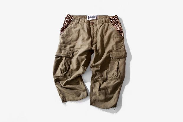 fuct ssdd leopard cargo shorts