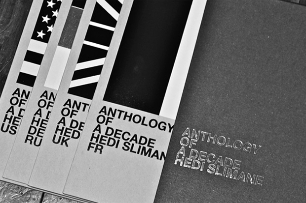 hedi slimane anthology of a decade book set