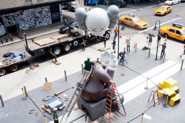 kaws passing through companion x the standard photo gallery