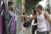 Liu Bolin & Kenny Scharf Mural Video