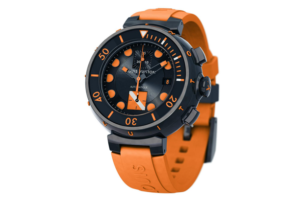 louis vuitton only watch 2011 tambour diver chronograph
