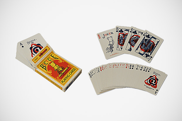 medicom toy bearbrick x bicycle playing cards