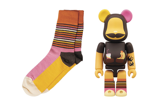 medicom toy x happy socks bearbrick collaboration