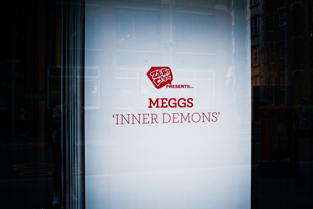 meggs inner demons exhibition red bull studios recap