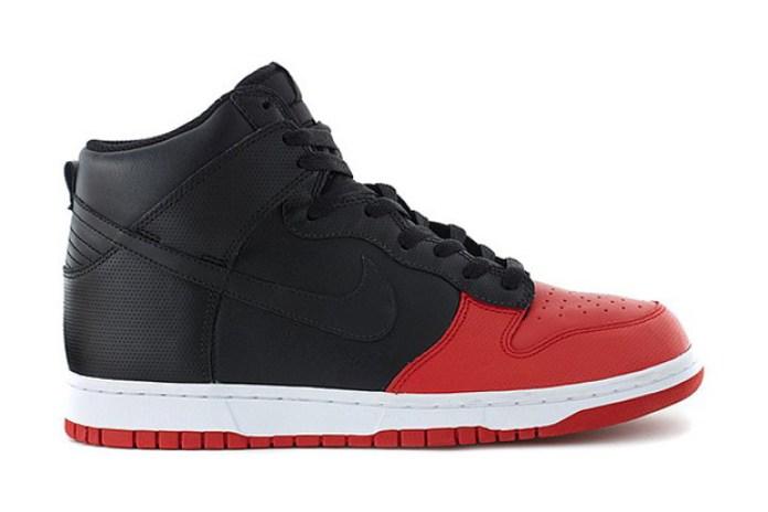 Nike Dunk High '08 Black/Sport Red