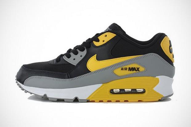 nike sportswear am90 black and yellow