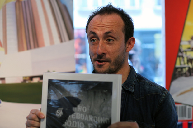 no skateboarding by mathias fennetaux book signing colette