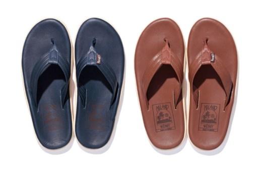 Stussy x Island Slipper Leather Sandals