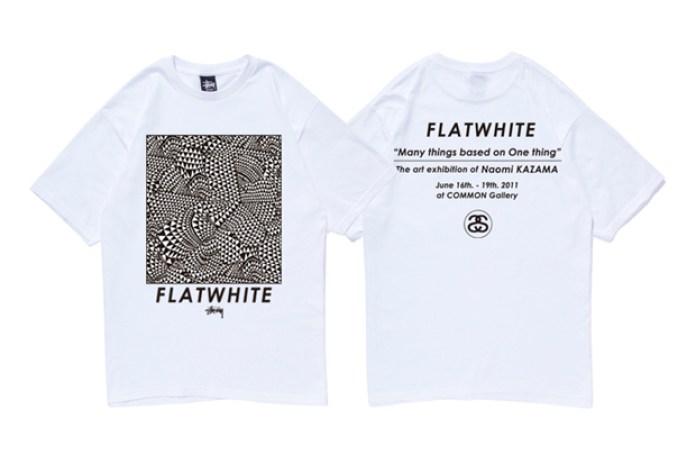"""Stussy x Naomi Kazama """"Flat White"""" T-Shirt"""