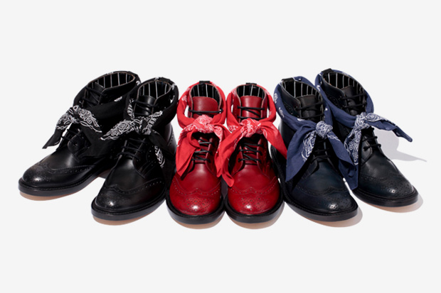 SWAGGER x Tricker's 7-Hole Wingtip Boots
