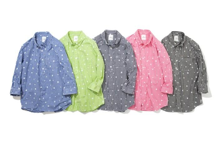 uniform experiment STAR PRINT COTTON CHECK GINGHAM Shirt