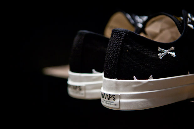 wtaps crossbones canvas sneaker