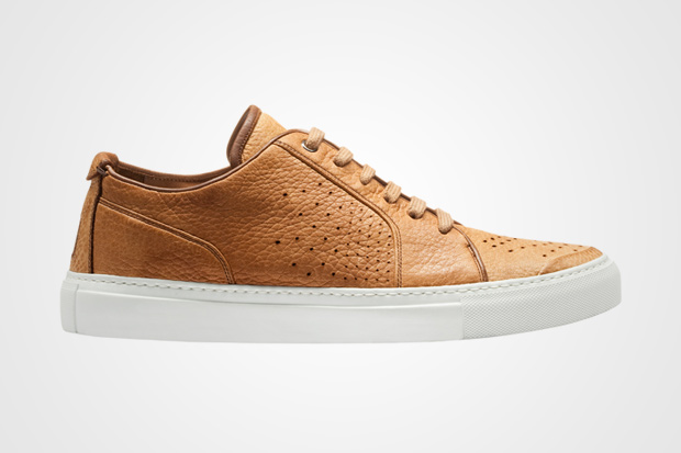 Yves Saint Laurent Leather Camel Low Top