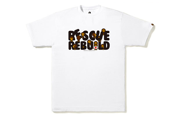a bathing ape baby milo rescue and rebuild charity tee