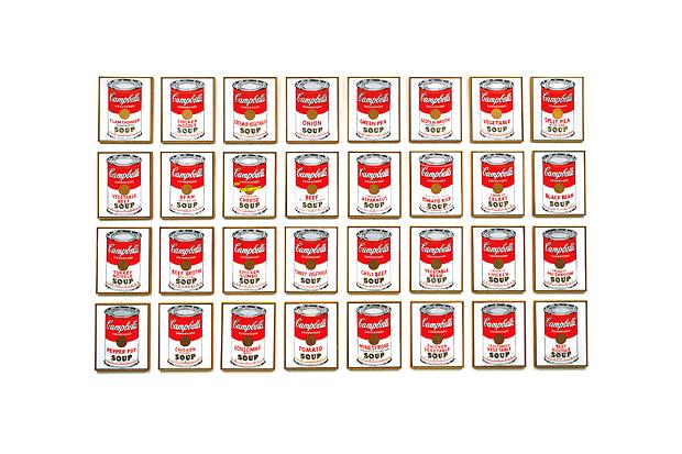 andy warhol campbells soup cans exhibition moca