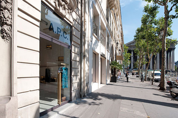 a p c rue royale store opening