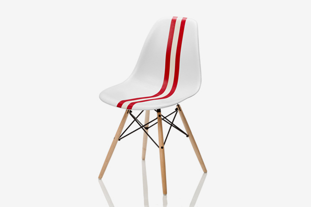 Bally x herman miller 160th anniversary chair hypebeast for Chaise eams patchwork
