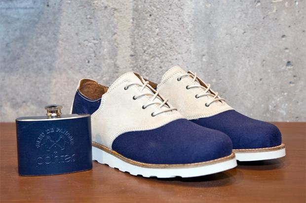 bleu de paname x pointer charlie saddle shoe