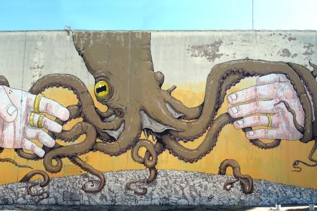 blu ericailcane octopus mural