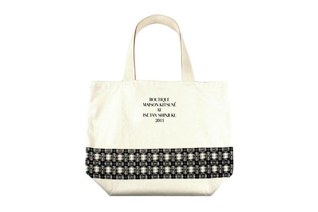 boutique maison kitsune tokyo tote bag