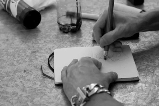 "COMBO x Moleskine: ""Ink Smoke Over Stapled Noted"""