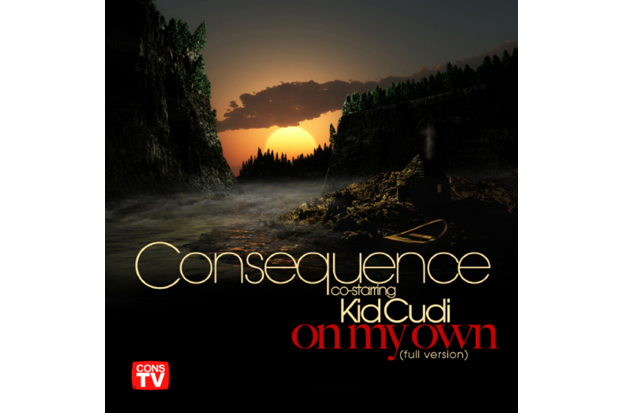 consequence featuring kid cudi on my own produced by kanye west