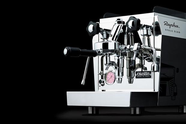 giotto rapha cycle club espresso machine by rocket espresso milano